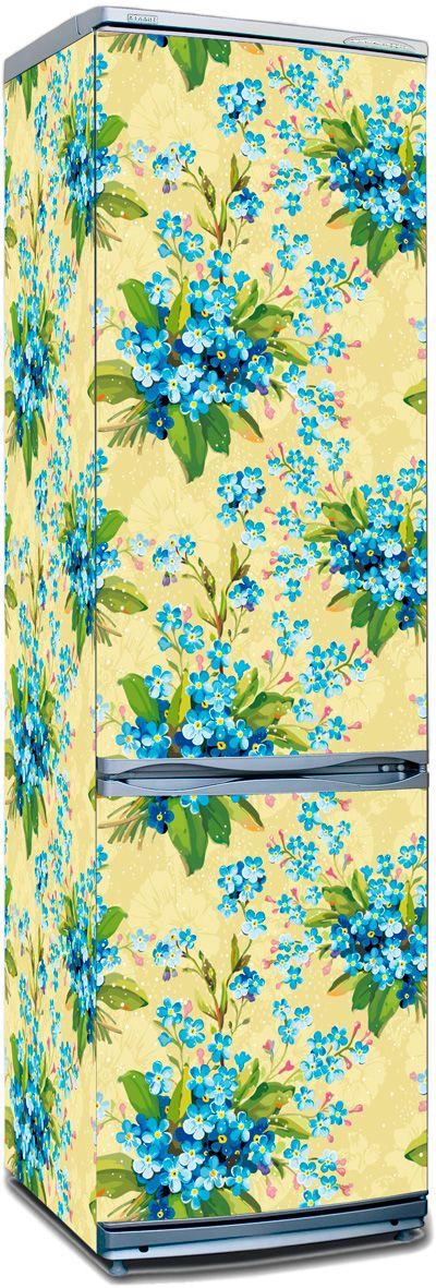 Наклейка на холодильник -  Цветочный мотив 3   купить в магазине Интерьерные наклейки