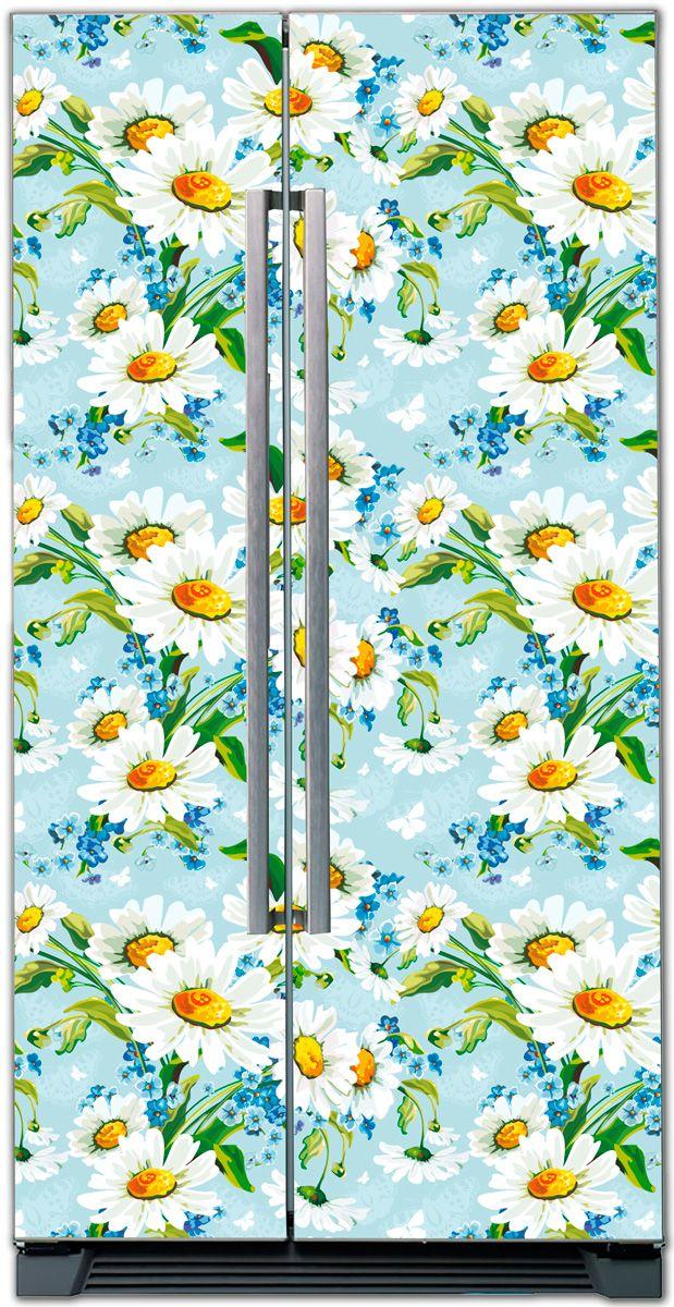 Наклейка на холодильник -  Ромашки | купить в магазине Интерьерные наклейки