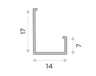 L-образный профиль крепеж
