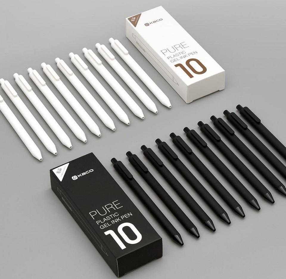 Набор гелевых ручек KACO Pure Gel Ink Pen White 10 pcs K1015 наборы из 10 ручек