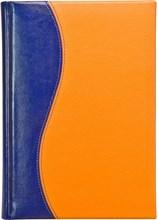 Ежедневник датированный А5 Rich сине-оранжевый комбинированный