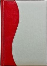 Ежедневник датированный А5 Rich красный Liga серебряный