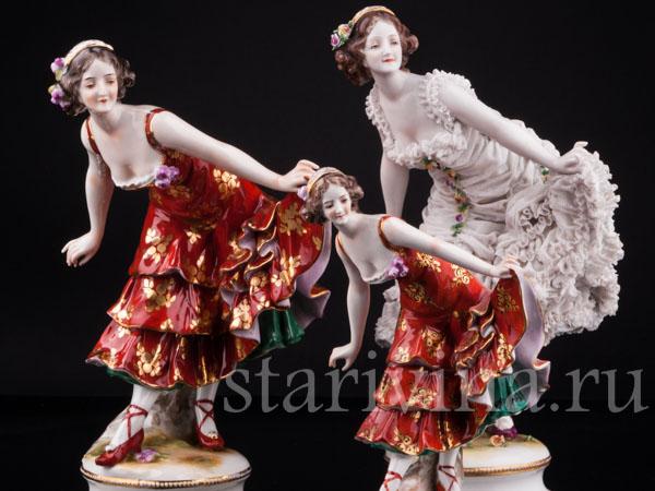 Фарфоровые статуэтки балерин и танцовщиц фото