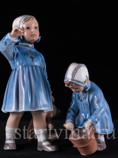 Фарфоровые статуэтки детей и ангелов фото