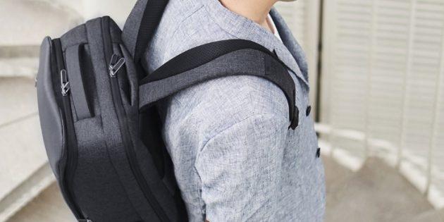 Xiaomi Business Travel Backpack 2 защищён от воды