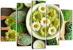 модульные картины цветы в интерьере