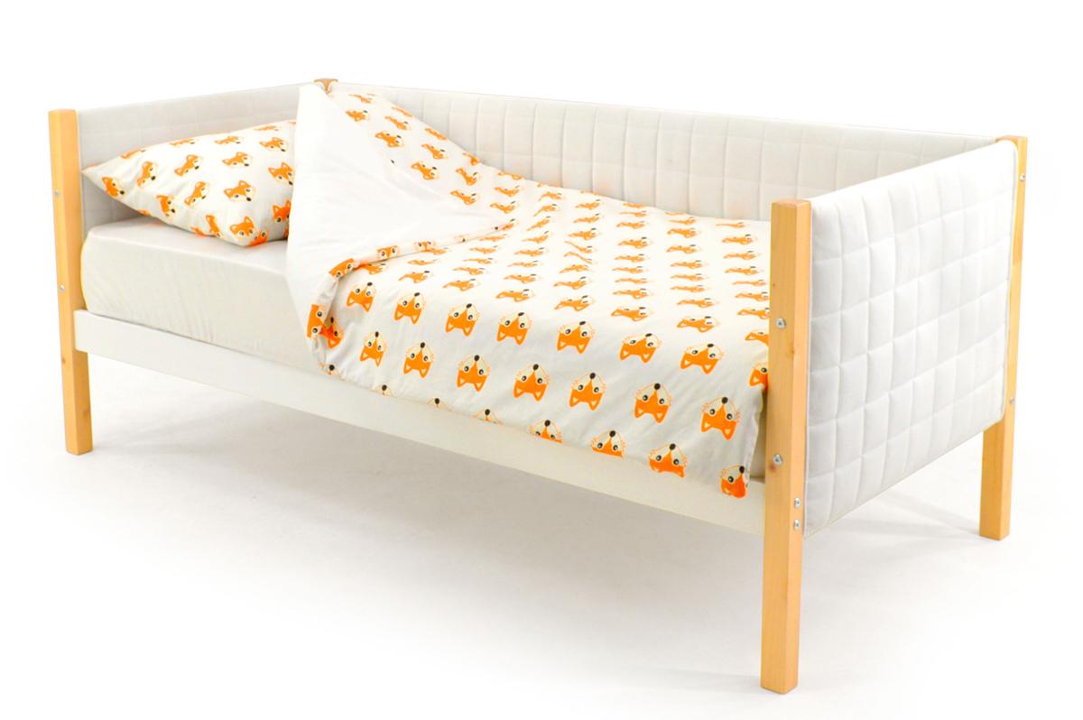 Кровать-тахта мягкая дерево-белый