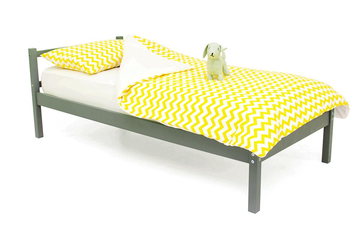 кровать детская графит