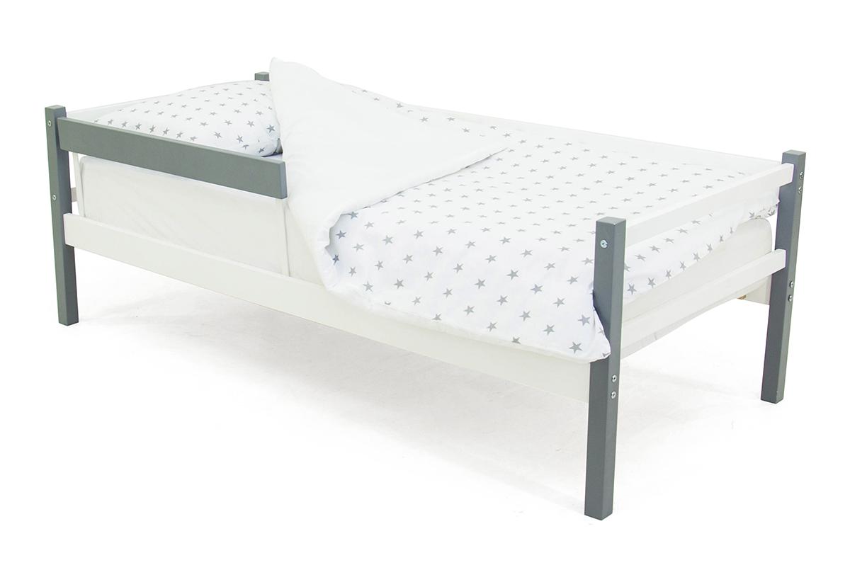 кровать-тахта графит-белый