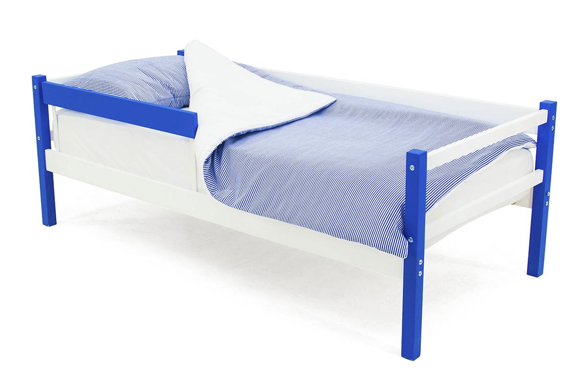 кровать-тахта синий-белый