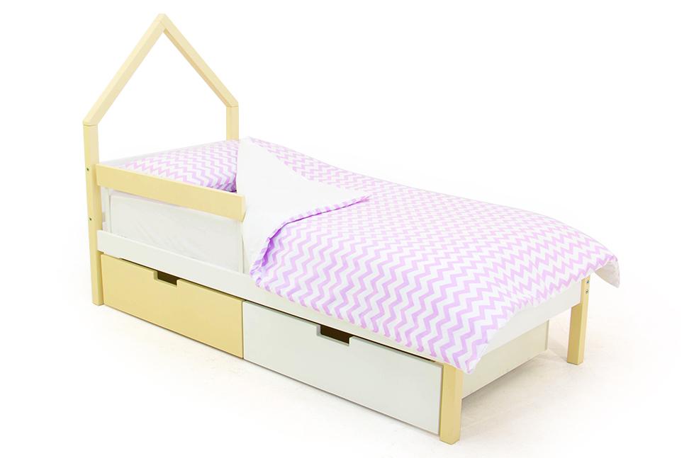 детская кровать бежево-белый