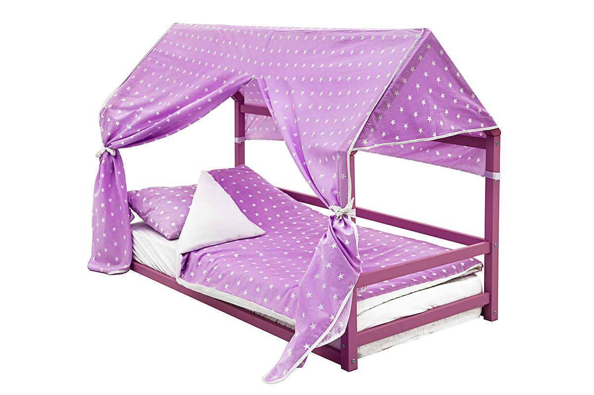 детская кровать монтессори лаванда