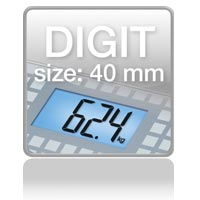 Digit size 44mm