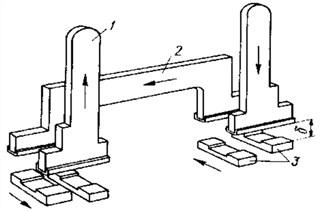Контактная система с четырехкратным разрывом и двухступенчатым контактом