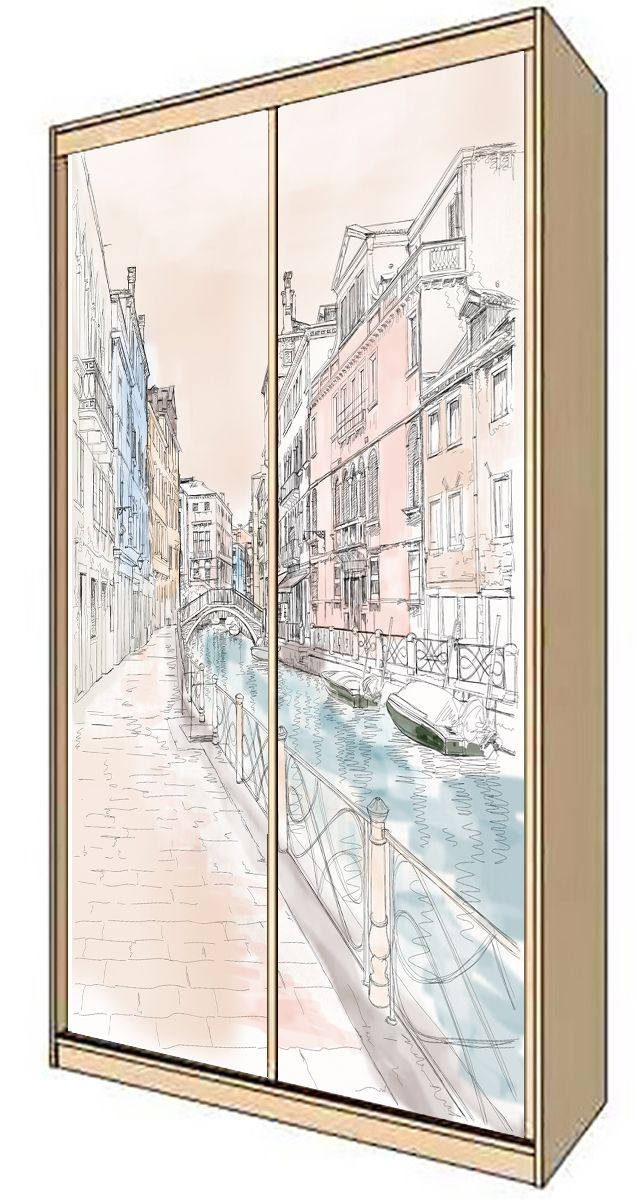 Wardrobe Stickers - Venice 1 at-14 by X-Decor