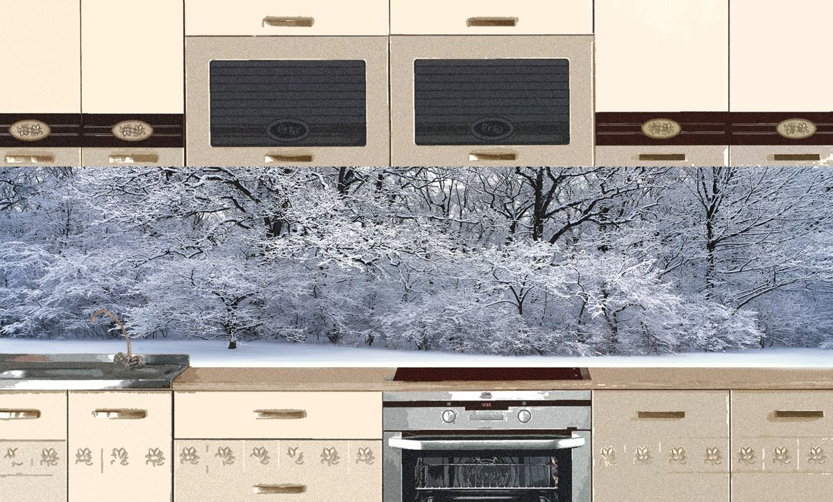 Kitchen Backsplash - White and fluffy