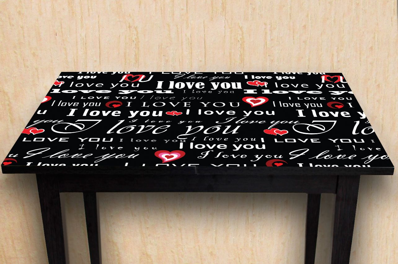 Stickers a Table - I love 1 | Buy Table Decals in x-decor.com