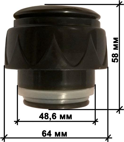 Пробка с кнопкой для термоса - размеры