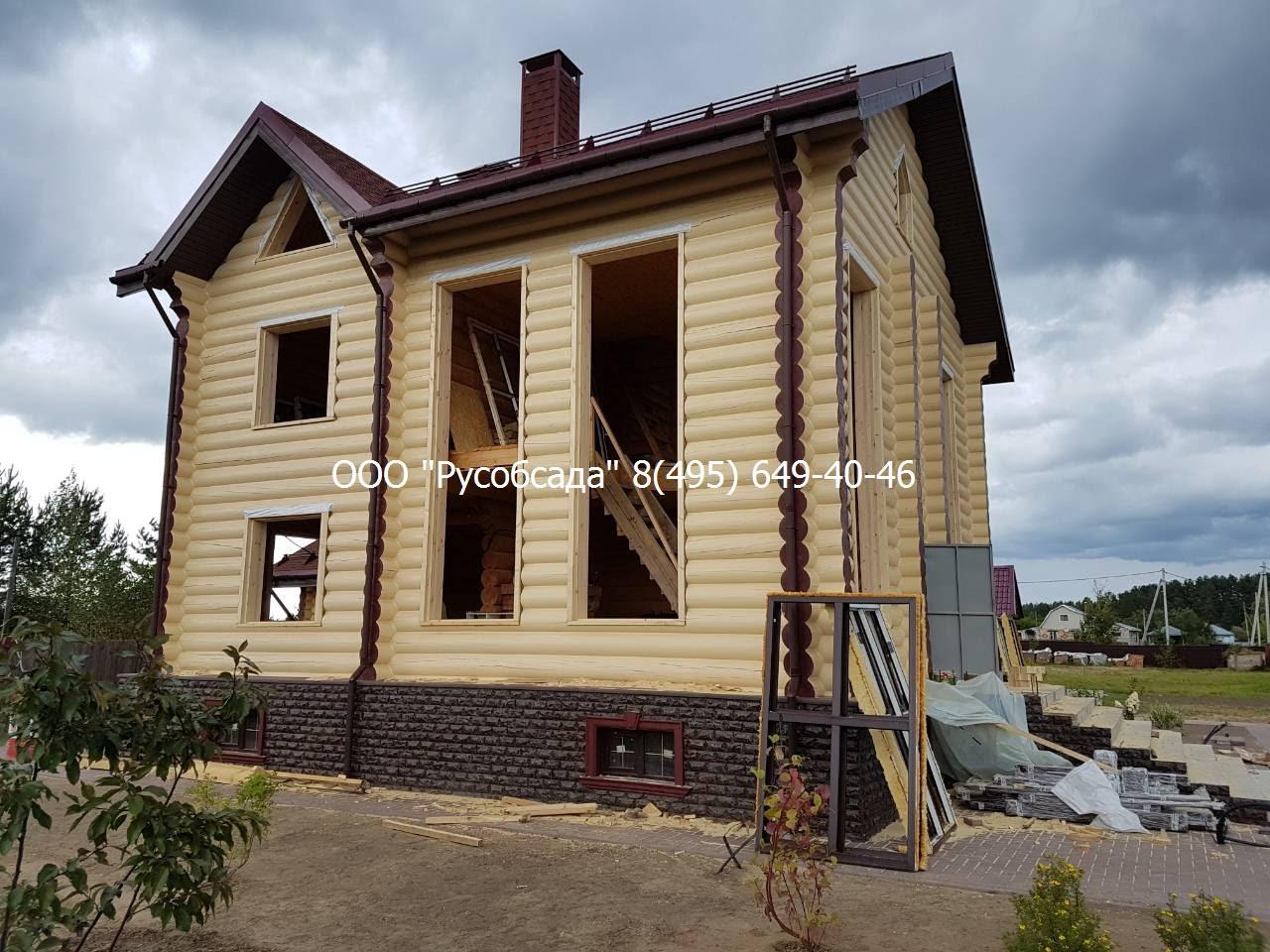 Русобсада остекление деревянных домов в Калуге и области