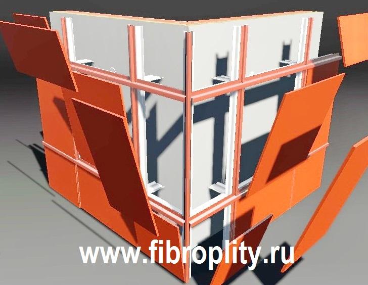 Монтаж фасадных панелей - отделка зданий