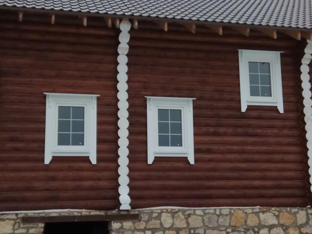 Финские наличники в деревянном доме