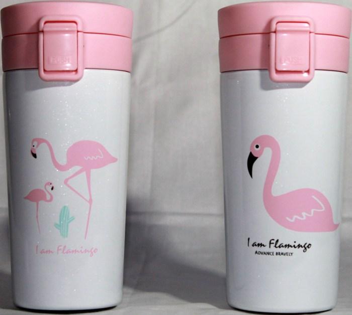 Термостакан Flamingo с поилкой 380 мл - варианты рисунка