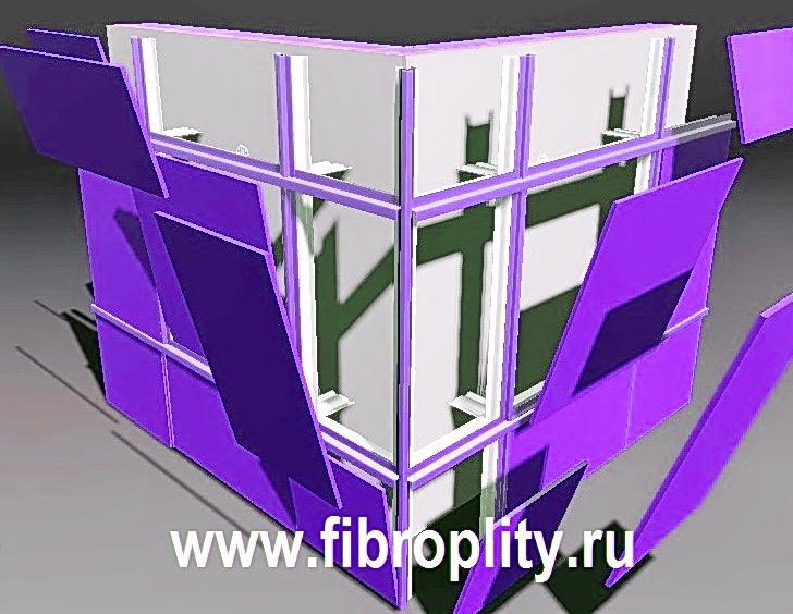 Отделка и монтаж фасадных фиброцементных панелей