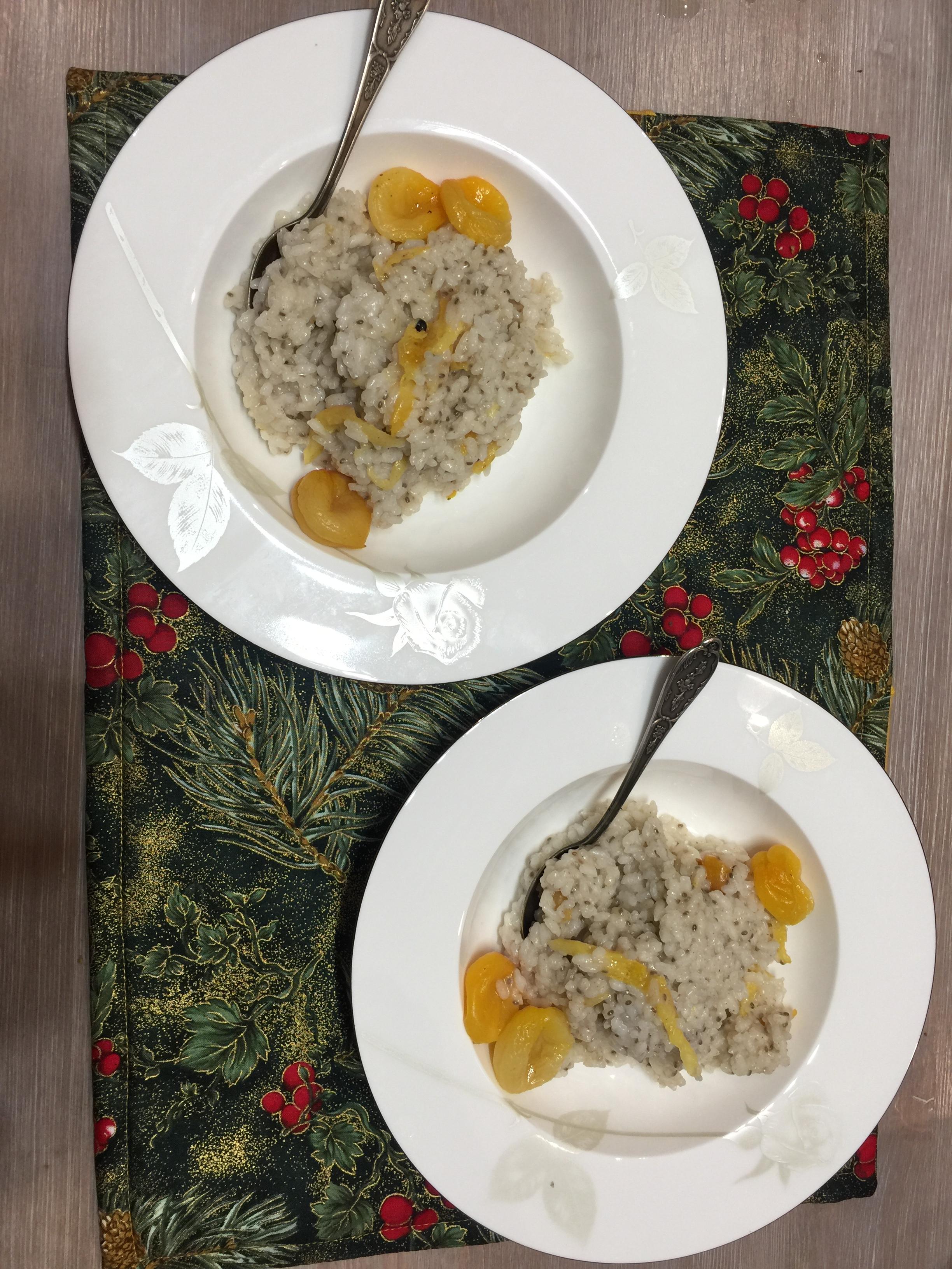 Каша рисовая с курагой и урбечом