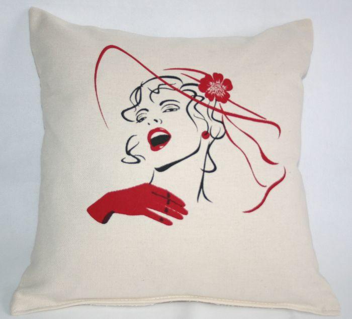 декоративная подушка с принтом шансоньетка