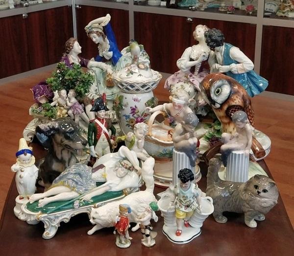 Пожалуй, лучший выбор антикварных и старинных фарфоровых статуэток из Европы для коллекций и подарков в России