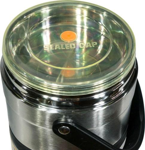 Термос Steel Food L 2,6 литра с тремя ёмкостями для еды - крышка из силикона