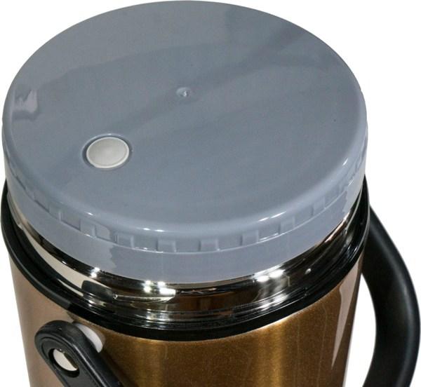 Термос Steel Food M 2,2 литра с тремя ёмкостями для еды - пробка с клапаном