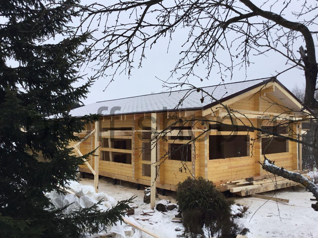 Обработка деревянного дома в зимнее время антисептиком Сигма-БИО