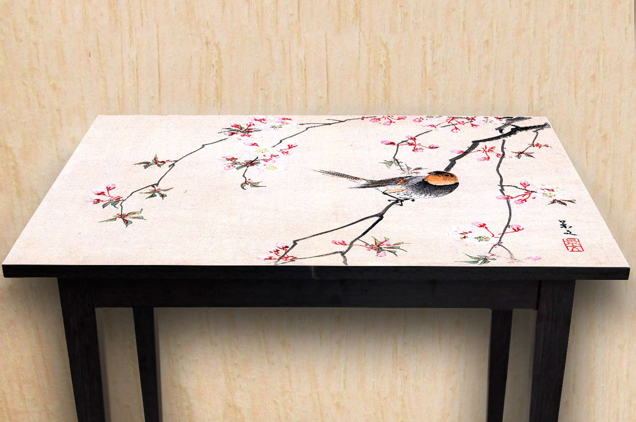 Stickers a Table - Bird and Cherry |  Table top Decals in x-decor.com