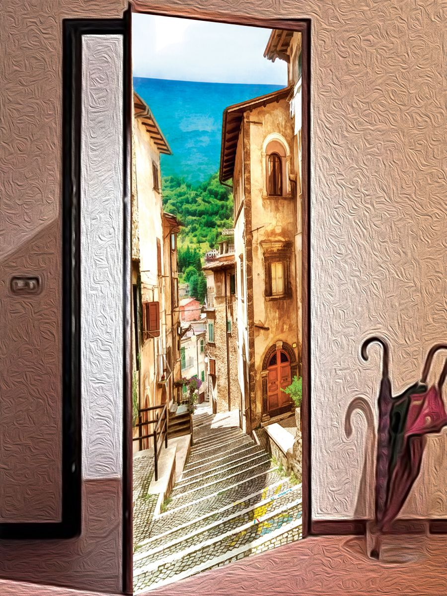 Door sticker -Neapolitan by X-Decor