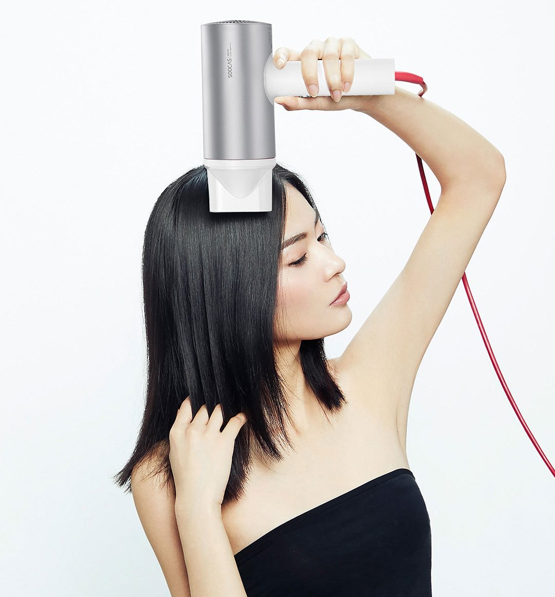 SOOCAS-Hair-Dryer-H3-White-Silver