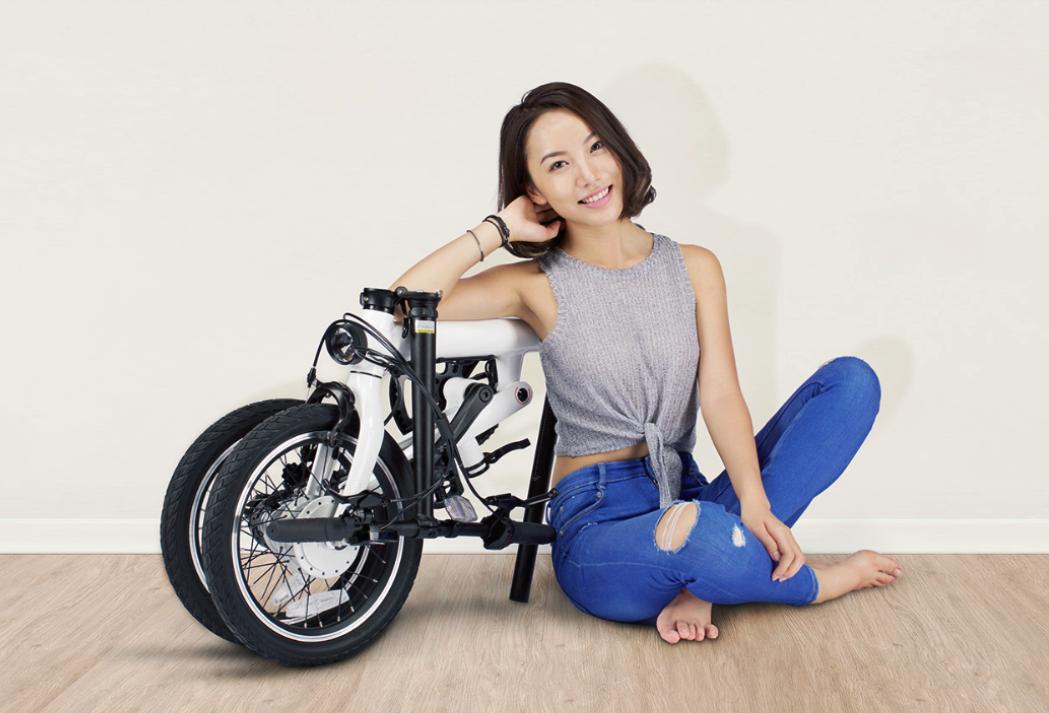 xiaomi Qicycle сложенный