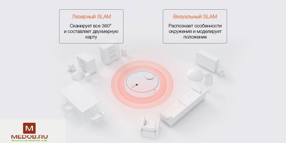 Робот-пылесос Xiaomi Mijia Sweeping Robot 1S (белый)