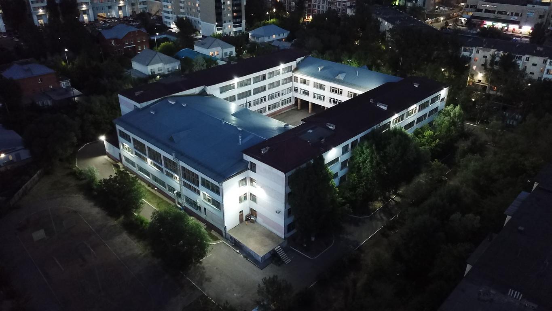 фасадная подсветка школы гимназии №34