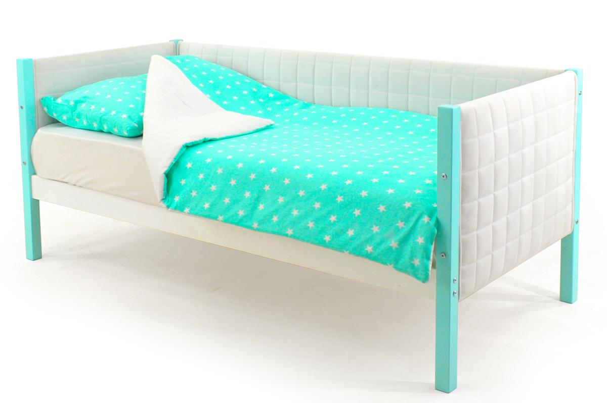Кровать-тахта мягкая мятно-белый
