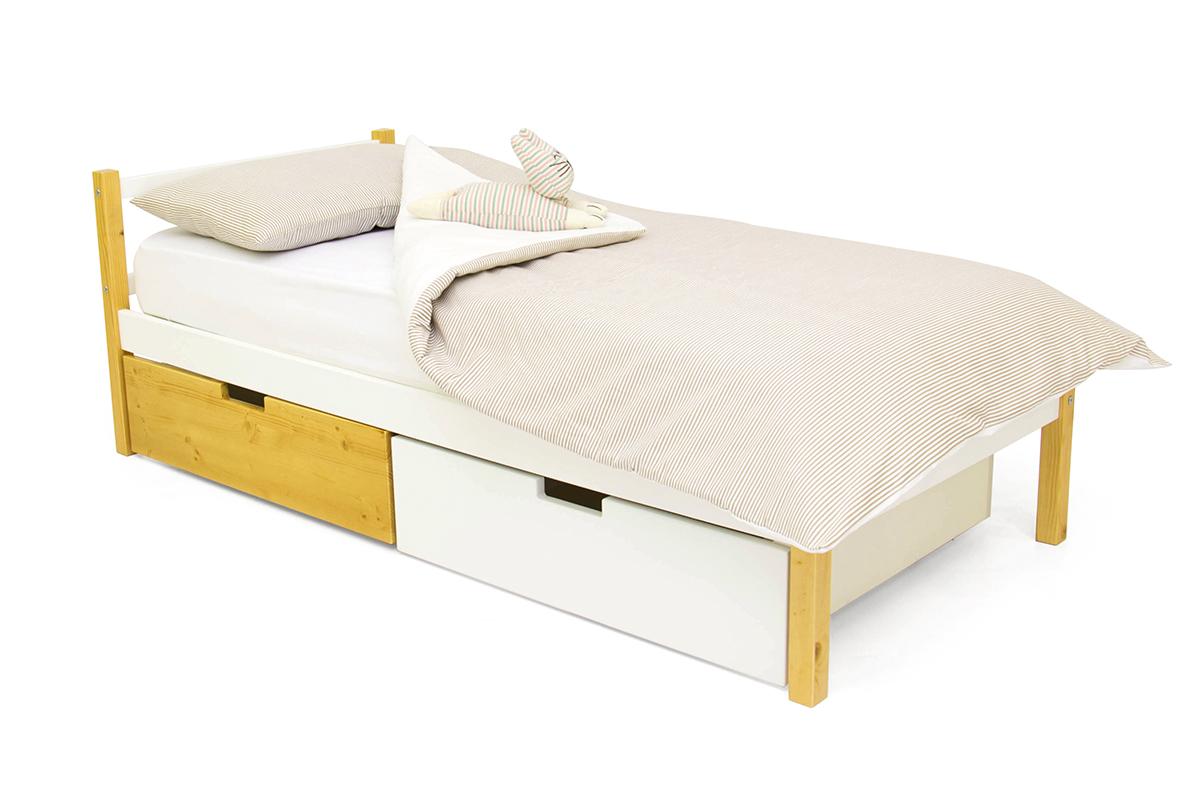 кровать детская дерево-белый