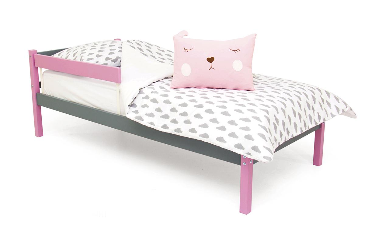 кровать детская лаванда-графит
