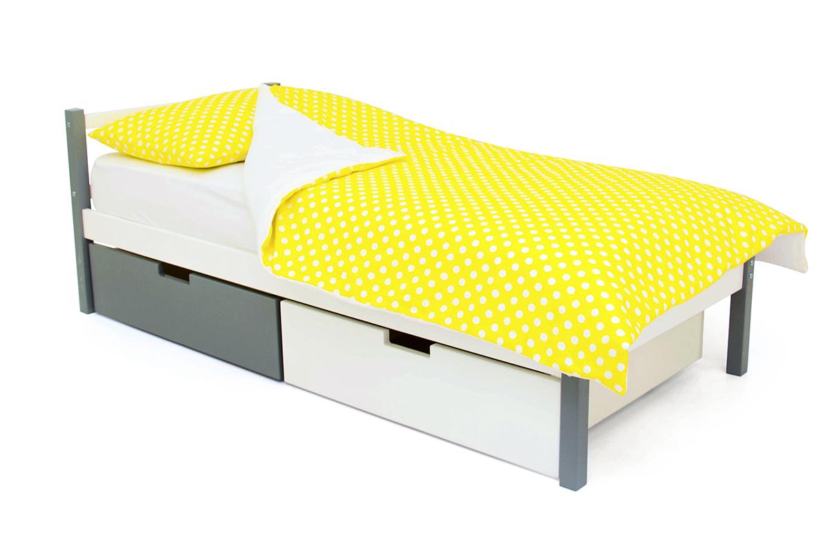 кровать детская графит-белый