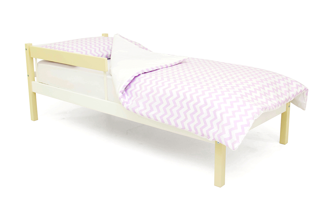 кровать детская бежево-белый