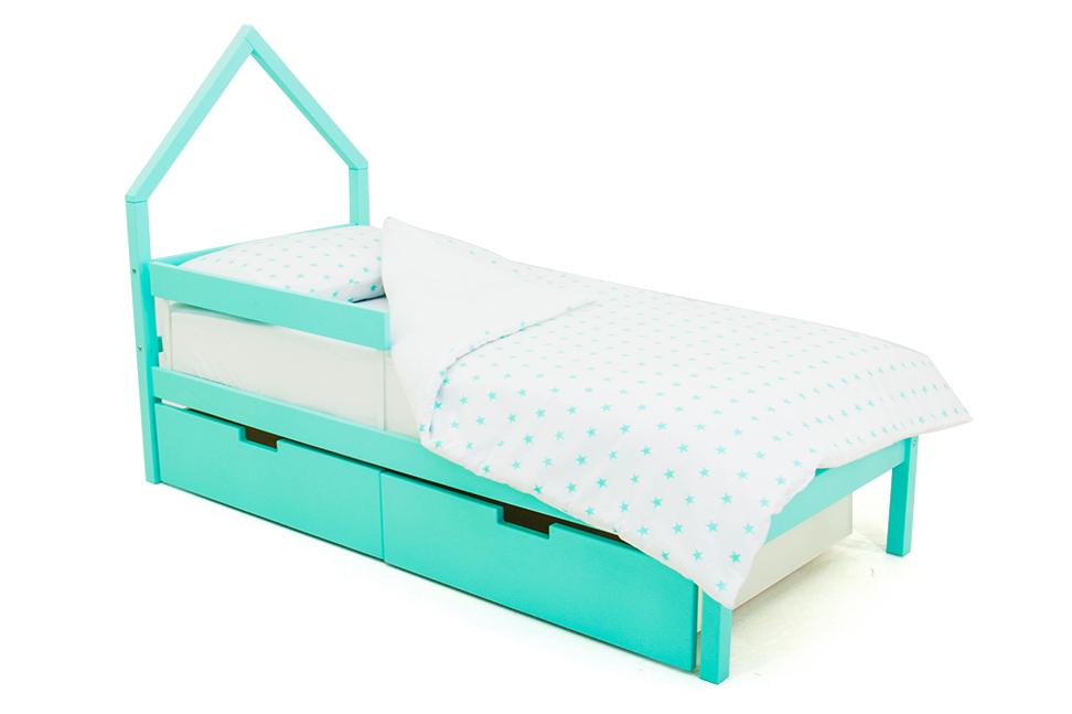 детская кровать мятный
