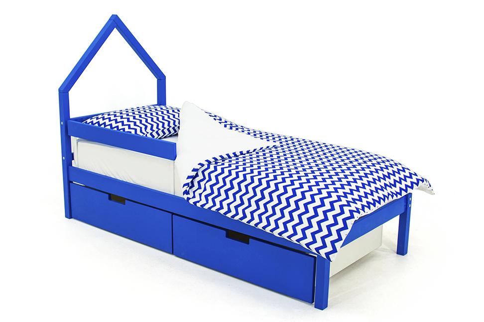 детская кровать синий