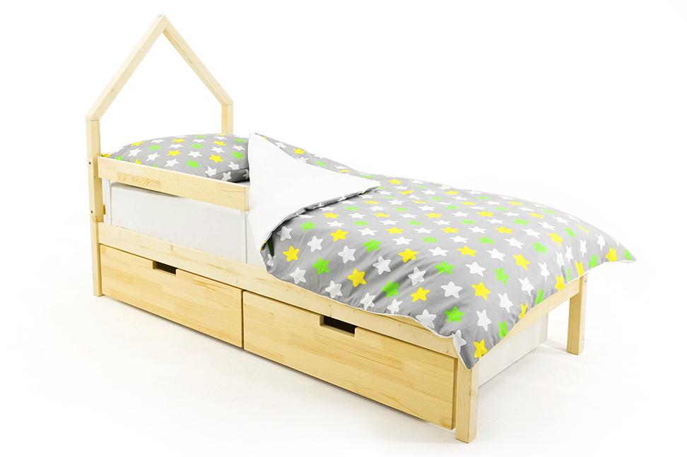 детская кровать натурал