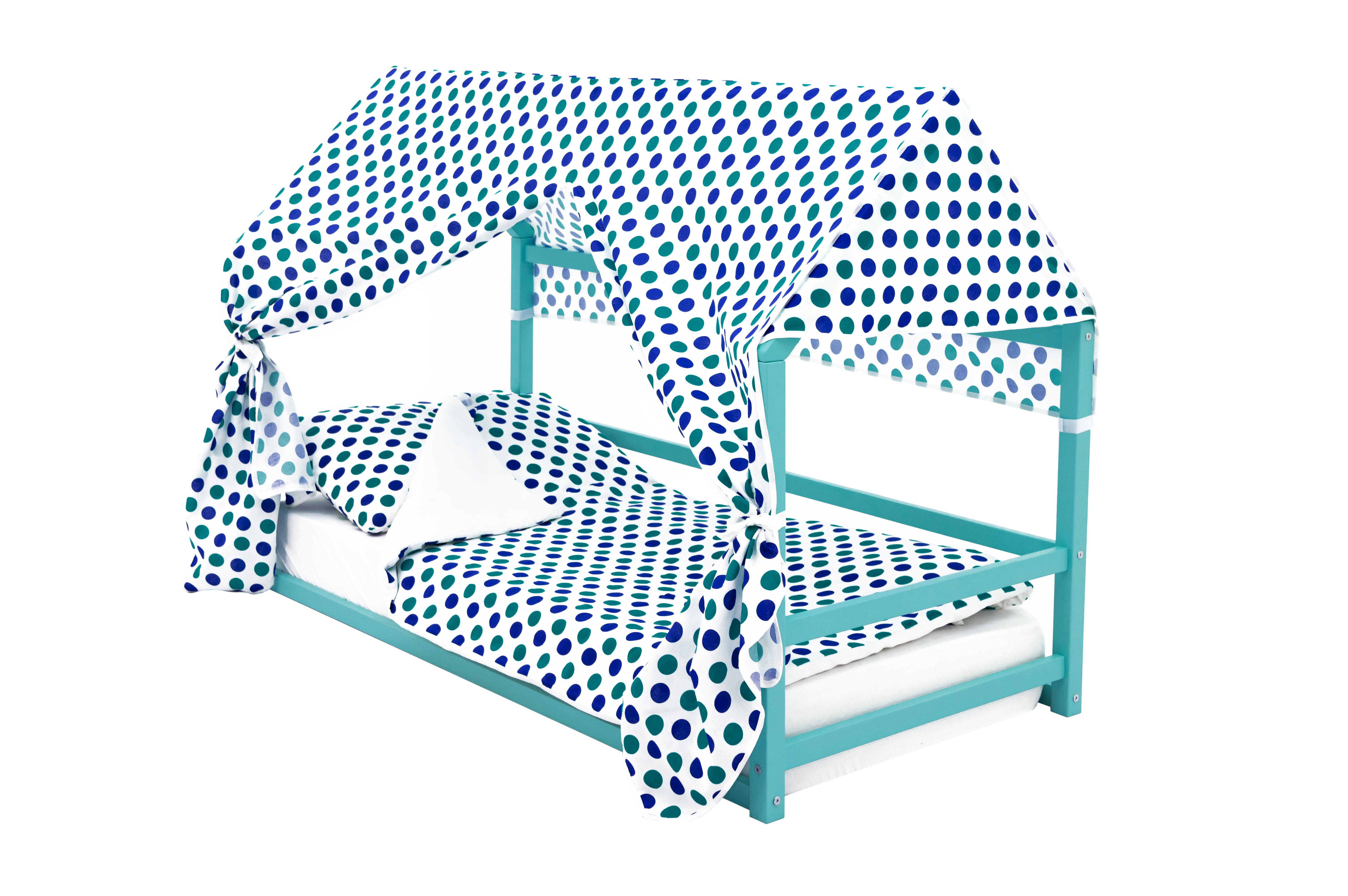 детская кровать монтессори мятный