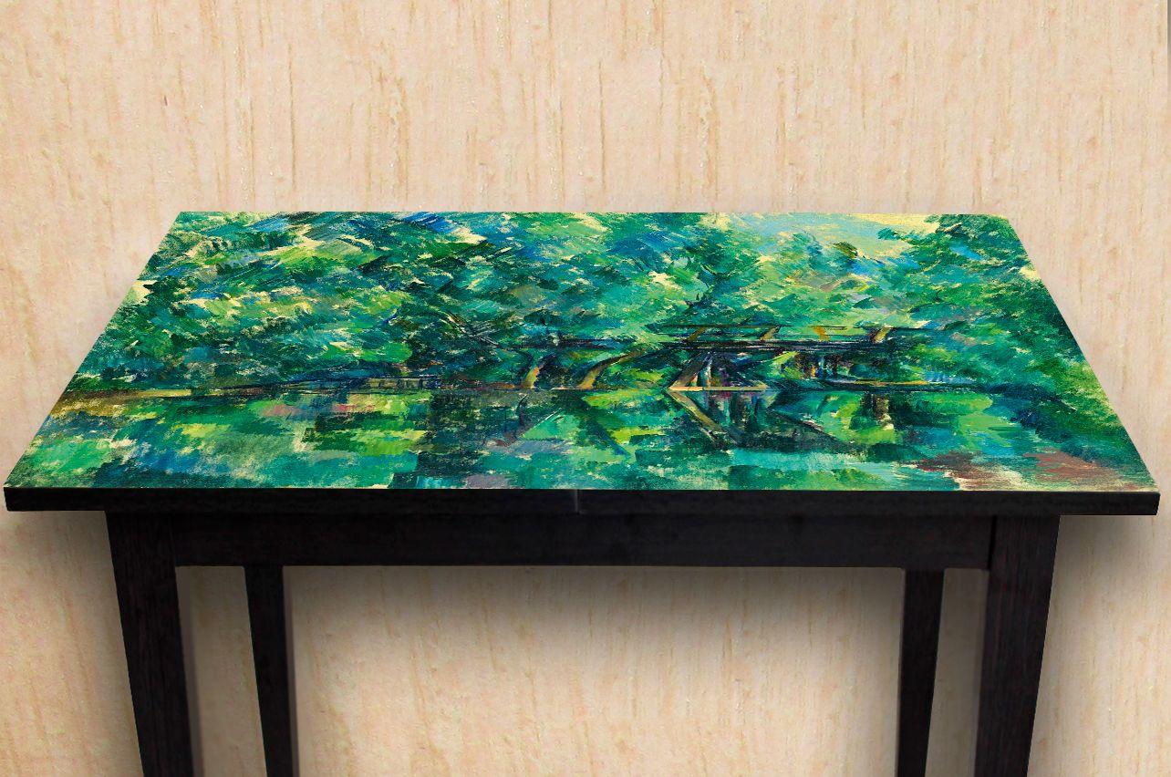 Наклейка на стол - Мост над прудом | Купить фотопечать на стол в магазине Интерьерные наклейки