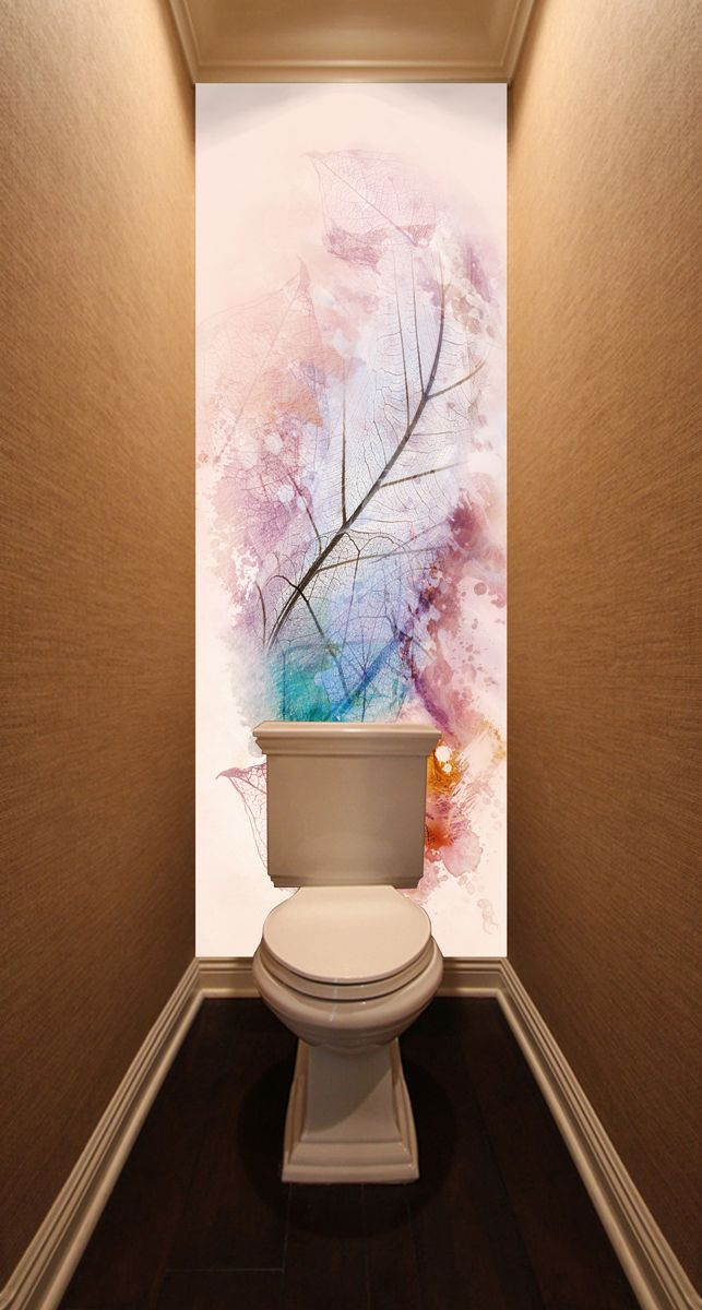 Фотообои в туалет - Листья магазин Интерьерные наклейки